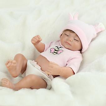 Handmade Real Looking Newborn Baby Vinyl Silicone Realistic Girl Dolls With Wig