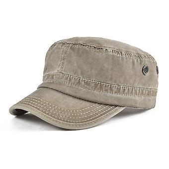 Summer Autumn Military Men/women Washed Flat Top Army Cap