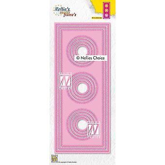 Nellie's Choice Multi Frame Die - Slimline Circle Mfd139 87,5x212,5mm