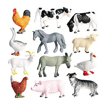 Realistic Simulation Farm Animal Model Kids Educational Toy Playhouse Decor