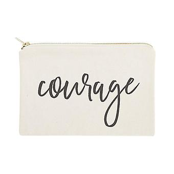 Courage-cotton Canvas Cosmetic Bag