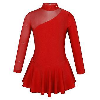 Splice de tul de salón de baile, recortes de patinaje hacia atrás, trajes de baile de escenario