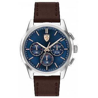 Scuderia Ferrari | Grand Tour | Brown Leather Strap | Blue Dial | 0830806 Watch