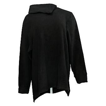 عناق دودس المرأة & ق أعلى الصوف pullover Tunic موك الرقبة الأسود A395365