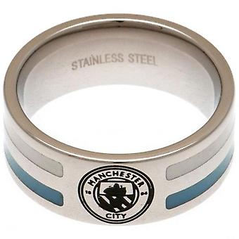 Manchester City FC Striped Ring