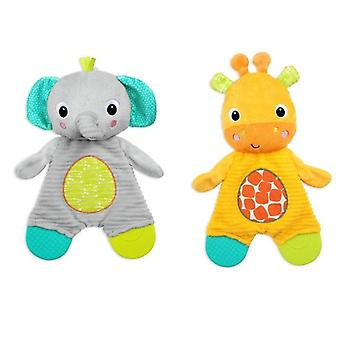 Bright starts snuggle and teether toy each sold separately