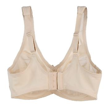 Cortland intimates style 7101 - brand printed full figure support underwire bra - fawn
