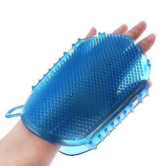 Pehmeä silikoni hieronta kuorinta käsineet kehon kylpyamme, hieronta harja