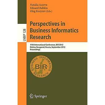 وجهات نظر في أبحاث المعلوماتية للأعمال - 11th الدولية كون