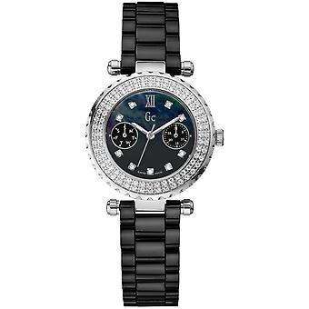 Watch GC A28102L2 - Watch C row Black Diamonds Woman