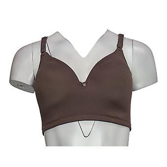Breezies Bra Cup D Curvas suaves camiseta sin alambre marrón A379944