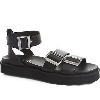 Barbour International Womens Kiera Platform Leather Sandals