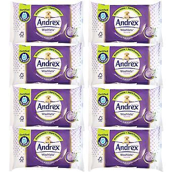 8 x 36 washlets Aloe Vera Fugtigt toiletpapir Skyllelige Biogradable Rengøring Wipes