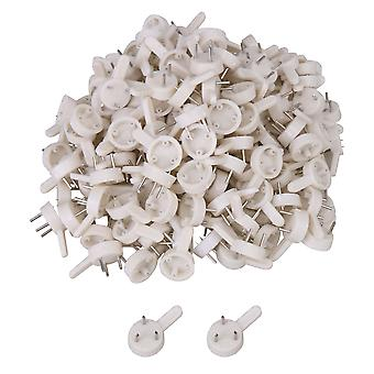 200pcs 2.5x1.5cm/0.98x0.59 inch Plastic Hardwall Hanger for Cement Wall