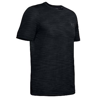 Under Armour Vanish Seamless Mens Gym T-Shirt Running Black Top 1345309 001