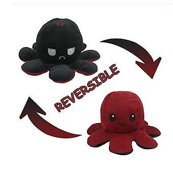 Söpö mustekala pehmolelut kaksipuolinen flip mustekala nukke pehmeä käännettävä mustekala täytetty eläin nukke