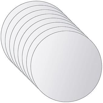 vidaXL 16-pcs. Mirror Tile Set Round Glass