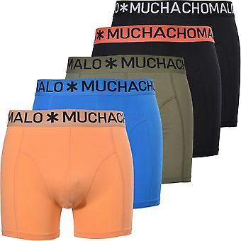Muchachomalo 5-Pack Hello Sunshine Solid Boxer Briefs, Svart /Multi