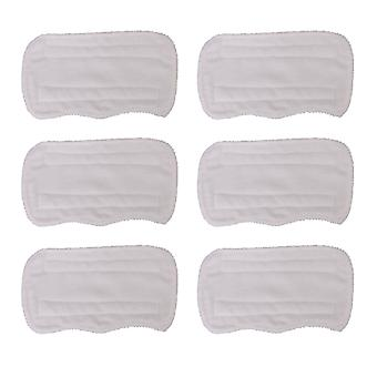 6 x White Fiber Fushing Steam Mop Pads S3251 Replacement for Shark s3101