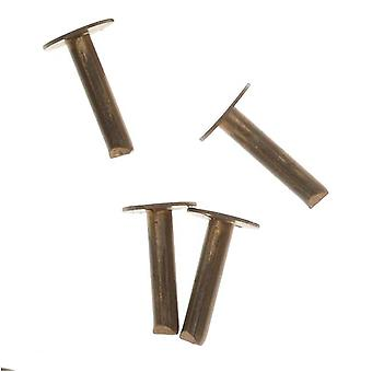 Vintaj Natural Brass, 1/4 tums nagelhuvudnitar för läder, 20 stycken