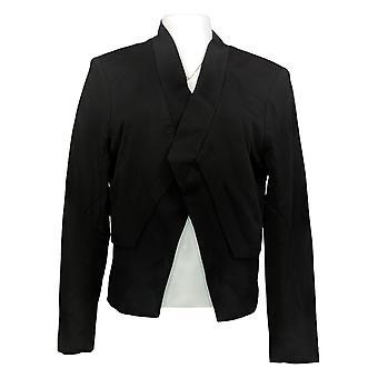 Elizabeth & Clarke Women's Ponte Knit Blazer W/ StainTech Black A368592