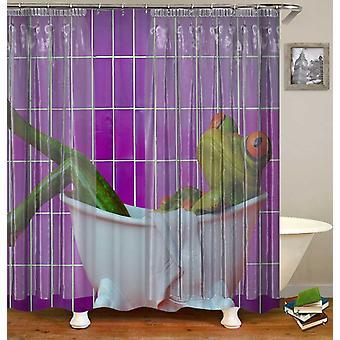 Frog Taking A Bath Shower Curtain