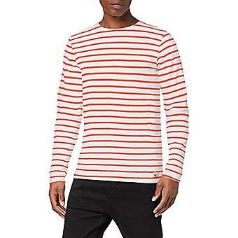 Armor Lux 73792 T-Shirt, Multicolor (Blanc/Orange Henne 1dr), Medium Men's