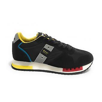 Shoes Blauer Sneaker Running Queens In Suede/ Black Fantasy Fabric Us21bu03