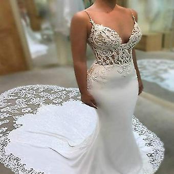 Vestidos de noiva vintage de gola V
