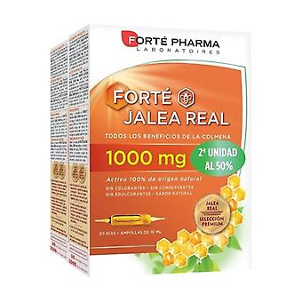 Forté Royal Jelly 1000 mg Pack Duplo 40 ampoules