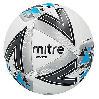 Mitre Ultimatch Match Ball Weiß/Silber/Blau - Größe 4