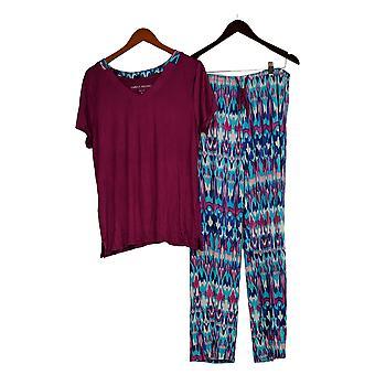 Carole Hochman Women's Coastal Ikat 2-Piece Pajama Set Purple A373456