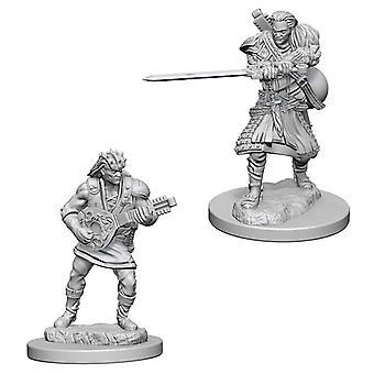 Dungeons & Dragons Nolzurs underbara omålade miniatyrer Mänsklig manlig bard