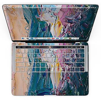 Absztrakt olajos ecsetvonások - Macbook Pro touch bar bőrkészlettel