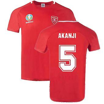 Switzerland 2021 Polyester T-Shirt (Red) (AKANJI 5)