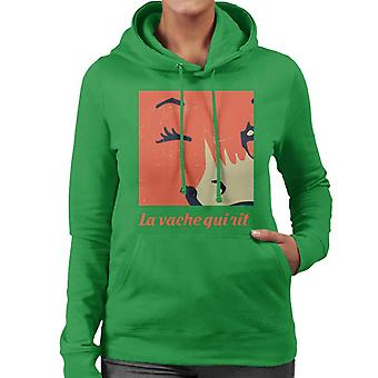 The Laughing Cow Close Up Wink Women's Hooded Sweatshirt