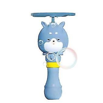 Bubble Stick Rising Bubble Flying Bamboo Dragonfly Aircraft Bubble Machine(Blue)