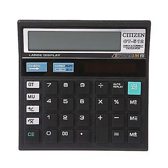 12 Digit Solar Battery Dual Power Large Display Office Desktop Calculator