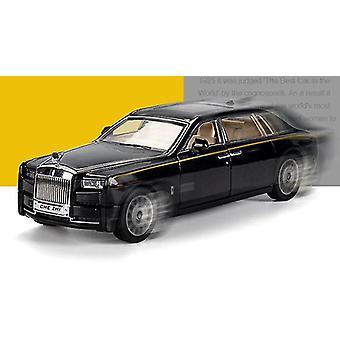 1/24 legering die-casting fantom modell lyd og lys trekke tilbake samling leketøy bil (svart)