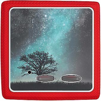 Aufkleber Folie kompatibel mit Toniebox - Sticker Schutzfolie selbstklebend - Galaxie Baum Wiese