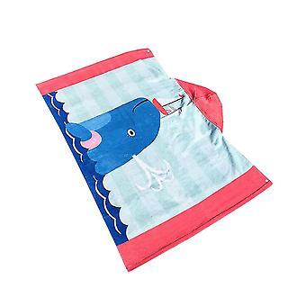 Serviette douce de plage de douche pour des enfants de chéri avec le modèle rose mignon de baleine de chapeau de dessin animé