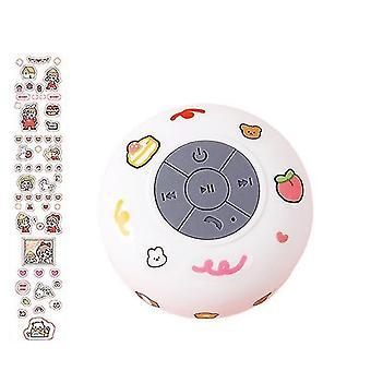 Waterproof Wireless Bluetooth Small Audio Suction Cup Bathroom Mini Universal Speaker(White)