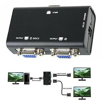 1 pc til 2 skærm 2-port VGA SVGA Video LCD Splitter Box-adapter til PC LCD-tv