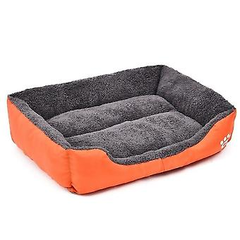 (Orange / SOrange / S) Warm Cozy Dog House, Soft Fleece Nest, Baskets, Ma, Autumn Winter Waterproof