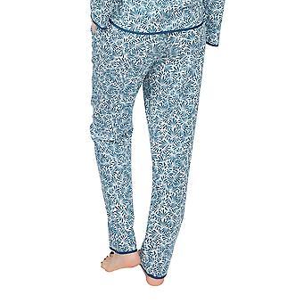Cyberjammies Maria 4893 Women's White Leaf Cotton Pyjama Pant