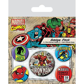 Набор значков Железного Человека Marvel (Набор из 5 человек)