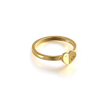 (7) Unique Simplicity Mom Heart Shaped Signet Ring Gold 9