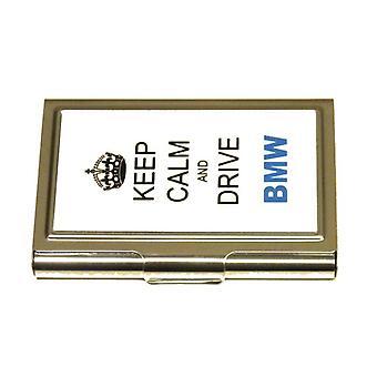 Korthållare -Keep calm and drive BMW