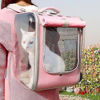 Udendørs Pet Cat Carrier Rygsæk Åndbar Cat Travel Udendørs skuldertaske til små hunde Katte