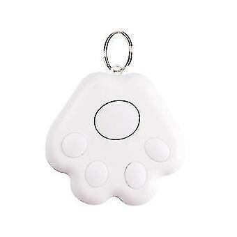 2 pakkausta Koirantassun muoto Bluetooth Kadonnut laite Matkapuhelin Kahden tien hälytysseuranta (valkoinen)